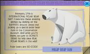 Polar bear day animal jam hat