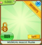 Wildworks mascot plushie