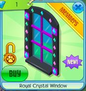 Royal crystal window shops