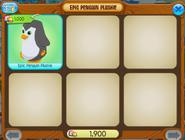 Epic penguin plushie shopwindow