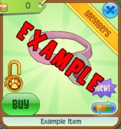 Shop Example-Item Pink