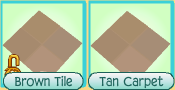 Brown Tile, Tan Carpet comparison