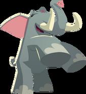 Renovated art elephant
