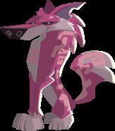 Pink Maze Wolf