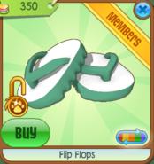 Flip Flops green