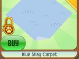 Blue Shag Carpet