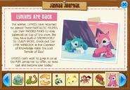 Jamaa Journal - Lynxes Are Back