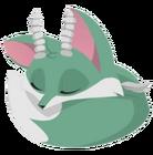 Fox art green horns