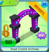 Royal crystal archway shops