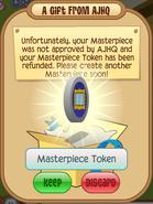 Masterpiece token refund