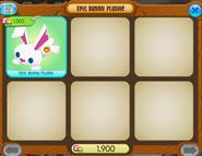 Epic bunny plushie shopwindow