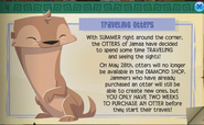 Traveling otters