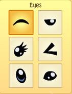 Pet penguin eyes