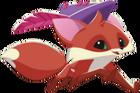 Fox art running feather cap