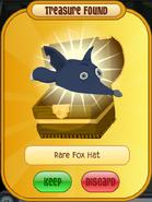 Rare Fox Hat Dark Navy Blue Return Of The Phantoms