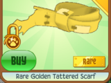 Rare Golden Tattered Scarf