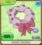 Trading-Party Wreath-Necklace White-Red