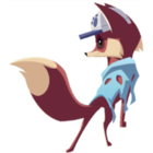 Fox art worn blanket