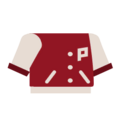 Clothes college jacket red.png