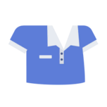 Clothes shirt polo blue.png