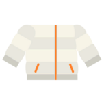 Clothes down jacket white.png