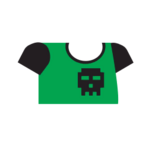 Clothes tshirt print green.png