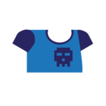Clothes tshirt print blue.png