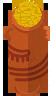 Egypt pyramid pot gold tall 1.png