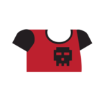 Clothes tshirt print red.png