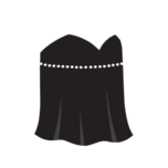 Clothes night dress black.png