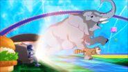 Digimon Elephant and raccoon