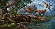 Illustration of Early Cretaceous Jehol Biota