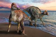 Life reconstruction of Yamatosaurus izanagii