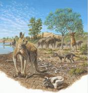 Art impression of Australian megafauna