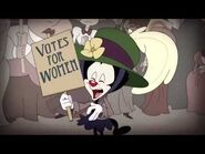 """Animaniacs """"Suffragette City"""" song (give cartoons the vote-March for your cartoony rights)"""