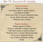 Examples of actions