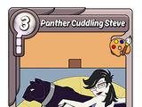 Panther Cuddling Steve