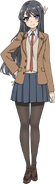 Mai Sakurajima School uniform