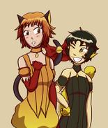 Galaxy Mew Mew - Hikari and Hotaru