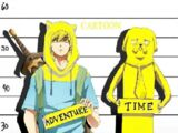 Adventure Time with Finn and Jake (anime style)