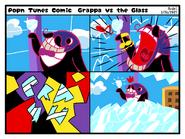 Pop'n Tunes Storyboard Comic - Grappa vs the Glass