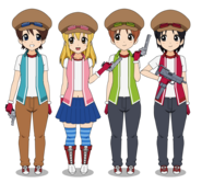 Herbie and the Gang in Hunter Outfits
