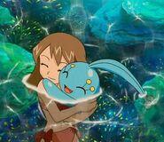 May and Manaphy Hug