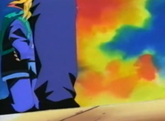 Yugi fells to his kness grabing his arms around his stomach