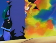 Yugi fells to his kness grabing his arms around his stomach2
