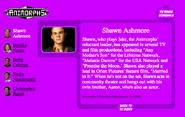 Shawn ashmore on nick.com bio