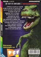 Animorphs megamorphs 2 time of dinosaurs french back cover