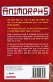 Animorphs 2 the visitor UK back cover