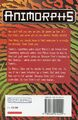 Animorphs 10 the android UK back cover 1999 edition