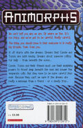 Animorphs 4 the message UK back cover later